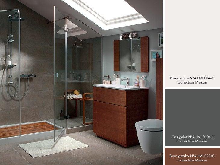 Plaques adhesives salle de bain 4 peinture salle de for Peinture salle de bain gris