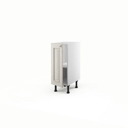 Meuble De Cuisine Bas Blanc 1 Porte Cosy X X P