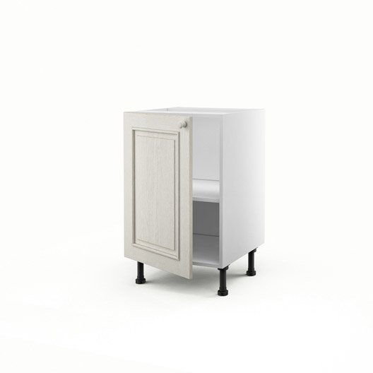 meuble de cuisine bas blanc 1 porte cosy x x p. Black Bedroom Furniture Sets. Home Design Ideas