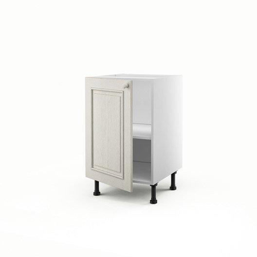 meuble de cuisine bas blanc 1 porte cosy x x p. Black Bedroom Furniture Sets. Home Design Ideas