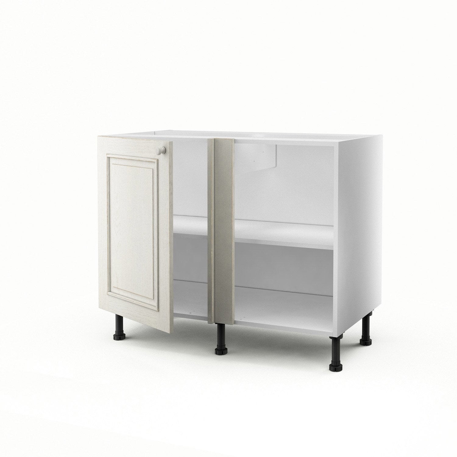 meuble de cuisine bas d 39 angle blanc 1 porte cosy x x cm leroy merlin. Black Bedroom Furniture Sets. Home Design Ideas