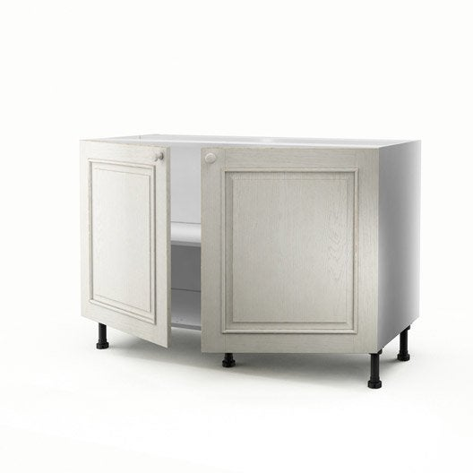 meuble de cuisine sous vier blanc 2 portes cosy x x cm leroy merlin. Black Bedroom Furniture Sets. Home Design Ideas