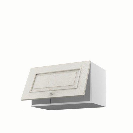 Meuble de cuisine haut blanc 1 porte cosy x x p for Meuble haut cuisine 60 x 60