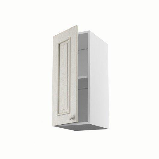 Meuble de cuisine haut blanc 1 porte cosy x x p - Meuble haut de cuisine blanc ...