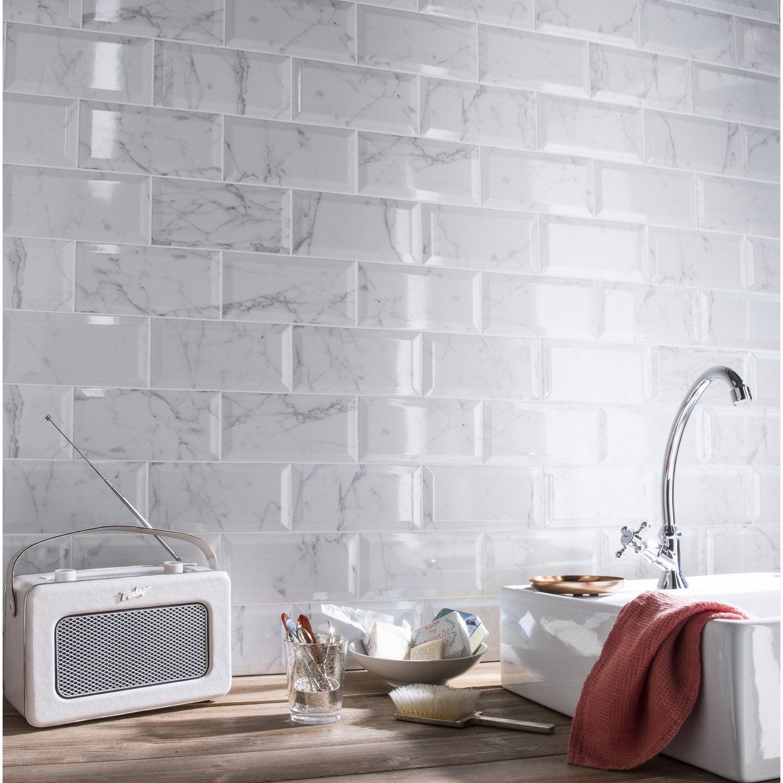 Faïence mur blanc, Métro carrare l.10 x L.20 cm | Leroy Merlin