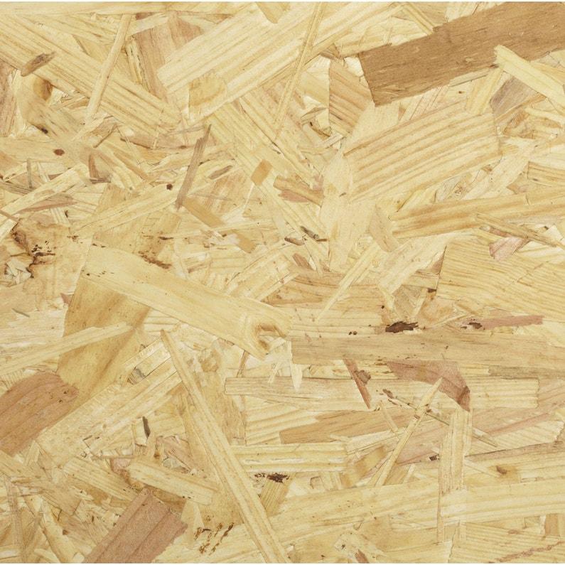 Nouveau Panneau osb 3 3 plis épicéa naturel, Ep.9 mm x L.250 x l.125 cm UA-82