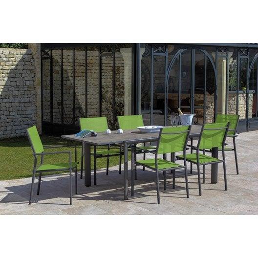 table de jardin messa rectangulaire 6 personnes leroy merlin. Black Bedroom Furniture Sets. Home Design Ideas