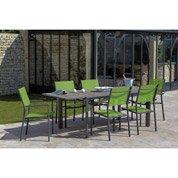 Table de jardin Messa rectangulaire 6 personnes