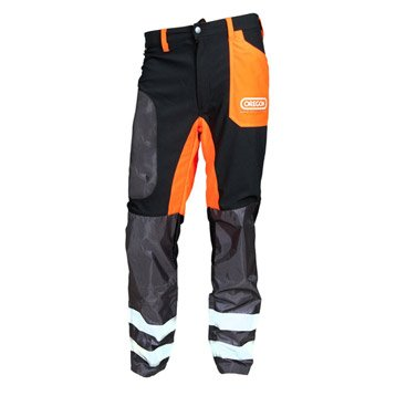 Pantalon OREGON noir et orange, taille L