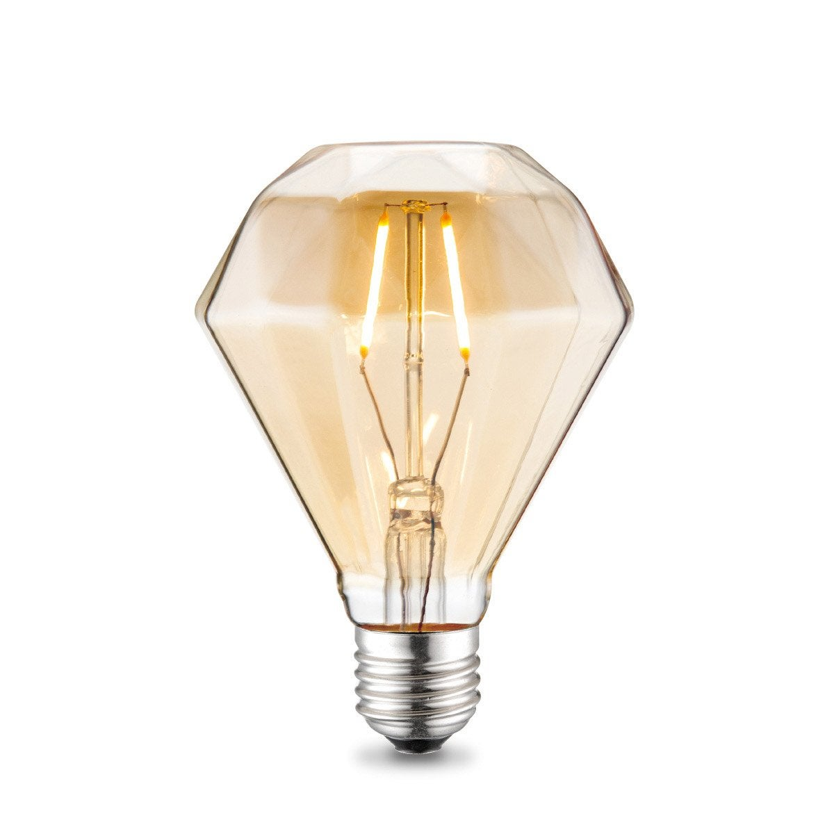 ampoule led d corative diamant ambr e 2w 160lm quiv. Black Bedroom Furniture Sets. Home Design Ideas