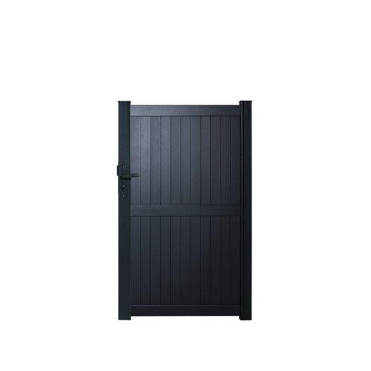 portillon battant naterial noyal x cm gris. Black Bedroom Furniture Sets. Home Design Ideas