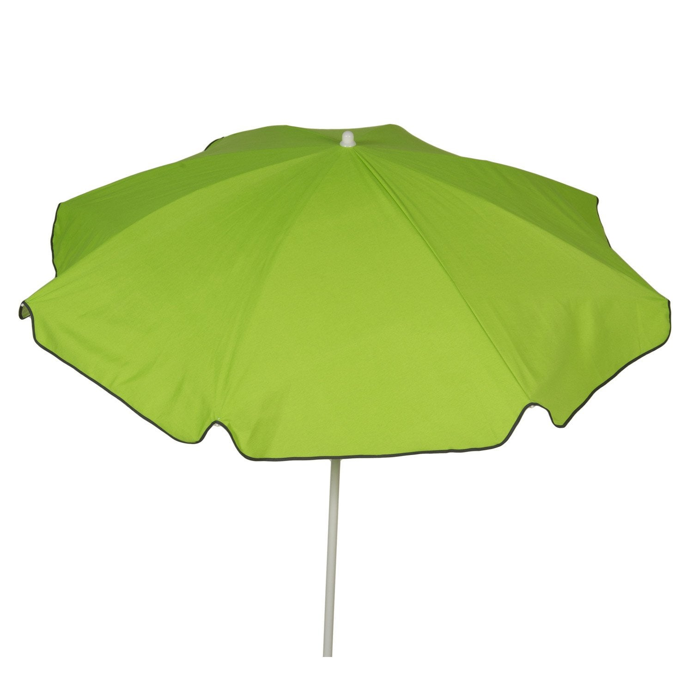 Parasol droit vert rond, L.180 x l.180 cm | Leroy Merlin