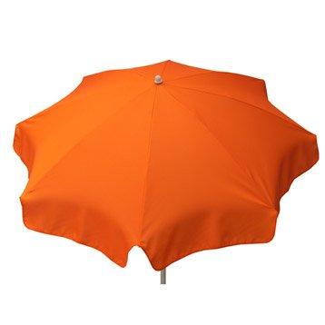Parasol droit orange rond, L.180 x l.180 cm