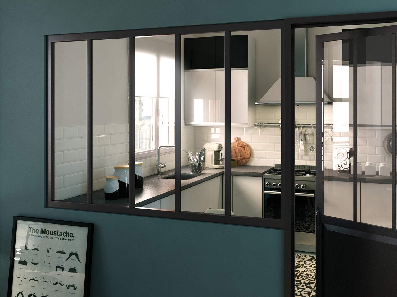 Verrière intérieure atelier : cuisine, salle de bains et ...