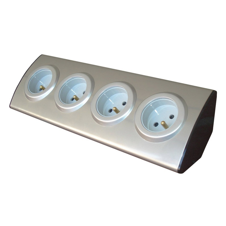 Multiprise à Câbler 4 Prises Aluminium Zenitech