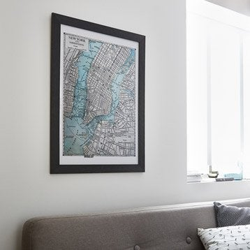 Cadre Mia, 40 x 50 cm, noir