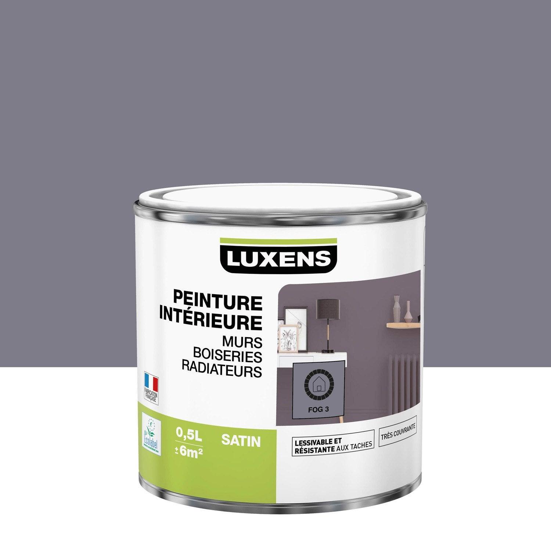 Peinture mur, boiserie, radiateur Multisupports LUXENS, fog 3, 0.5 l, satin