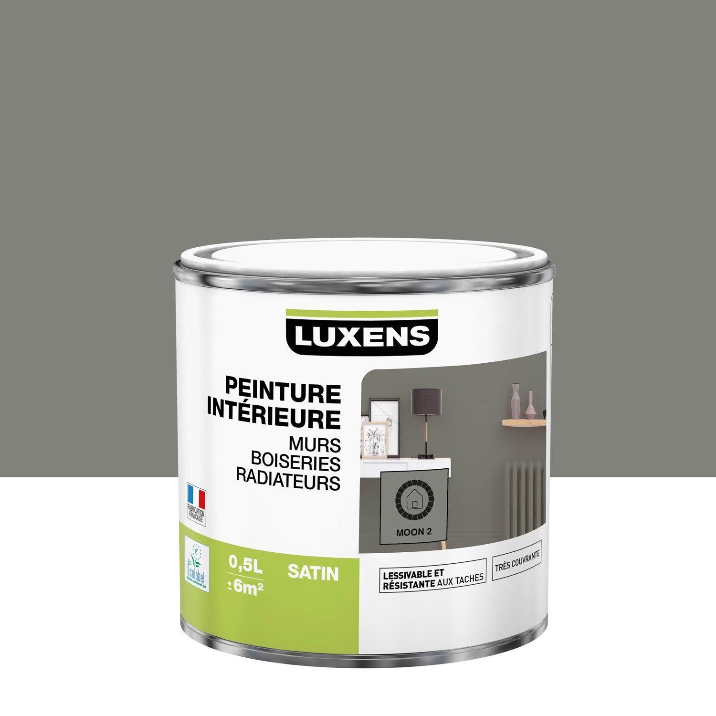 Peinture mur, boiserie, radiateur Multisupports LUXENS, moon 2, 0.5 l, satin