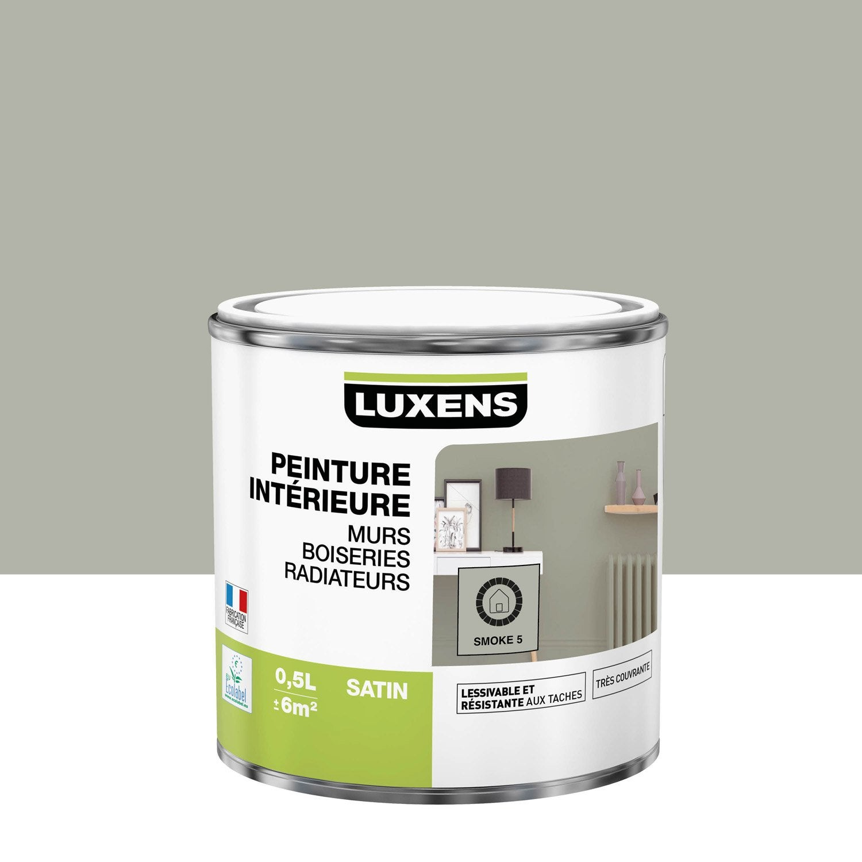Peinture mur, boiserie, radiateur LUXENS, smoke 5 0.5 l, satin