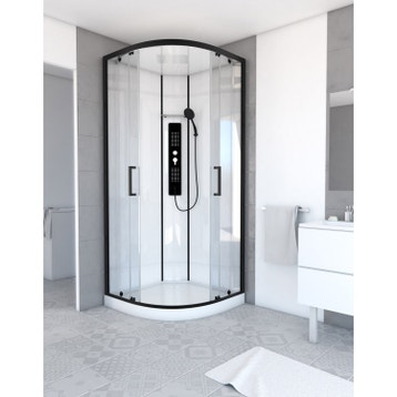 cabine de douche rectangulaire l.115 x l.90 cm urban