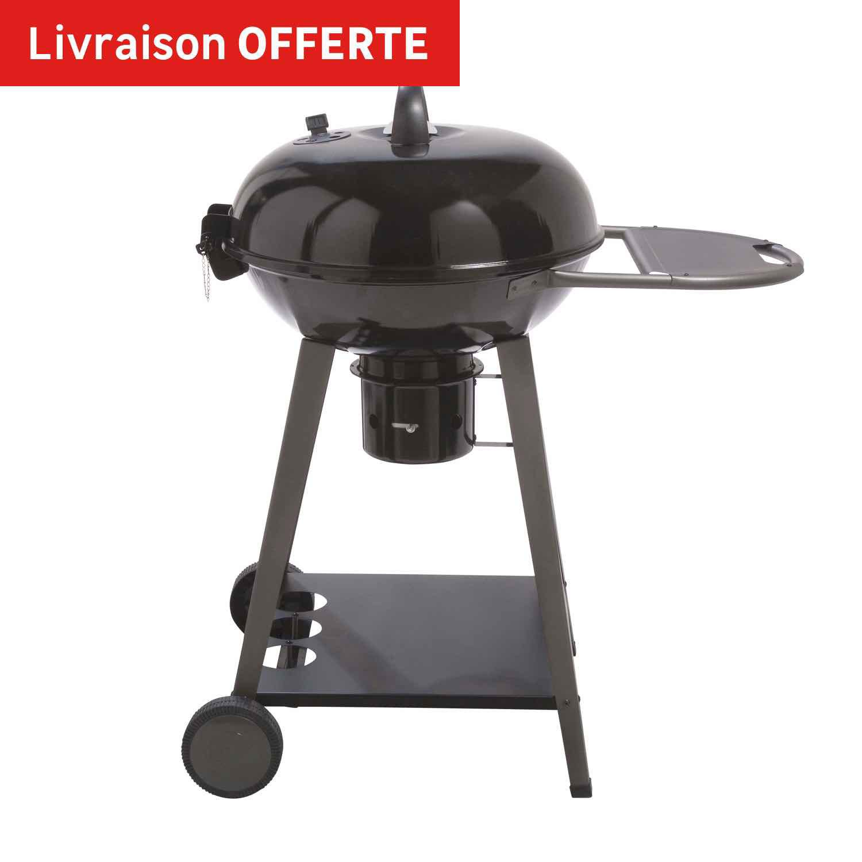 Barbecue au charbon de bois naterial yutan noir et gris leroy merlin - Avis barbecue naterial florida ...