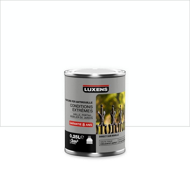 Peinture Fer Extérieur Intérieur Blanc Satin Luxens 025 L