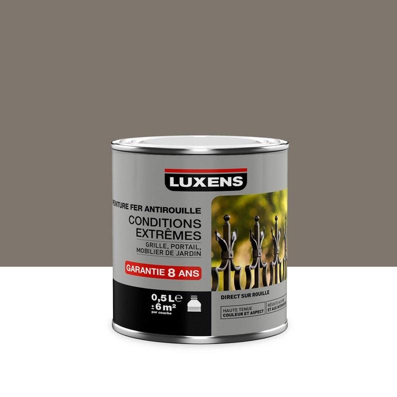 Peinture Extérieur Intérieur Luxens Brun Taupe 3 Brillant 05 L