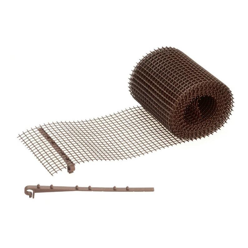 Grillage Stop Feuilles Et Attaches Pour Gouttière Protege Gout Pp 6m X 15cm Fix