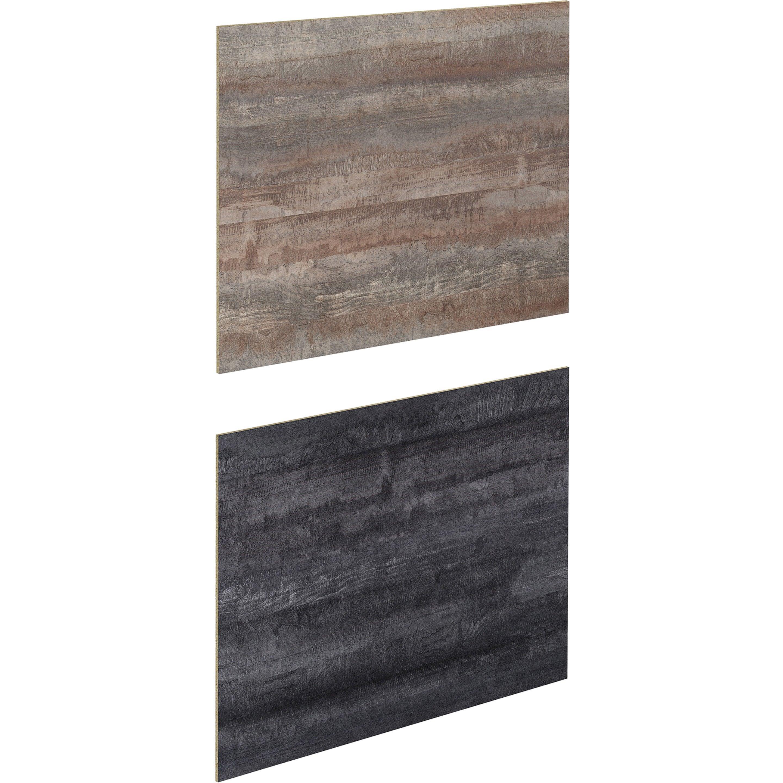 Crédence stratifié New vintage wood / noir H.64 cm x Ep.9 mm x L.300 cm