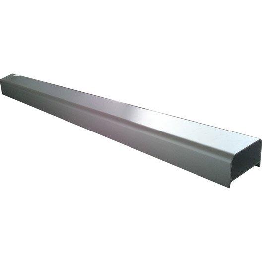 Profil de douche block lock gris alu 2 5 m leroy merlin for Block lock brique de verre