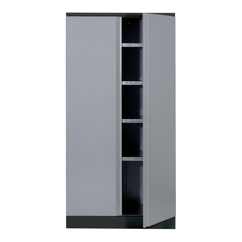 armoire de rangement en métal gris clair kupper 45.5 cm 1 porte