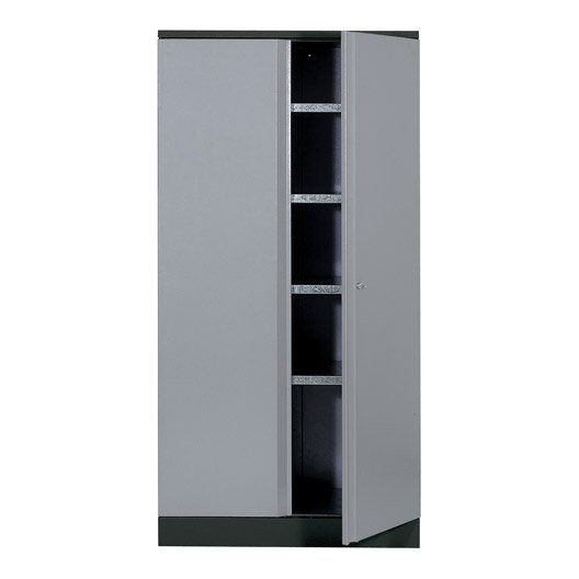 armoire de rangement en m tal gris clair kupper 180 x 45 5. Black Bedroom Furniture Sets. Home Design Ideas