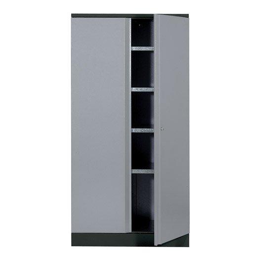 armoire de rangement en m tal gris clair kupper 45 5 cm 1 porte leroy merlin. Black Bedroom Furniture Sets. Home Design Ideas