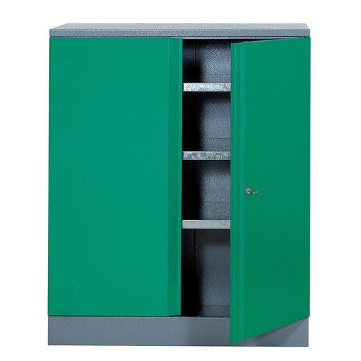 armoire de rangement en m tal vert kupper 91 cm 1 porte. Black Bedroom Furniture Sets. Home Design Ideas