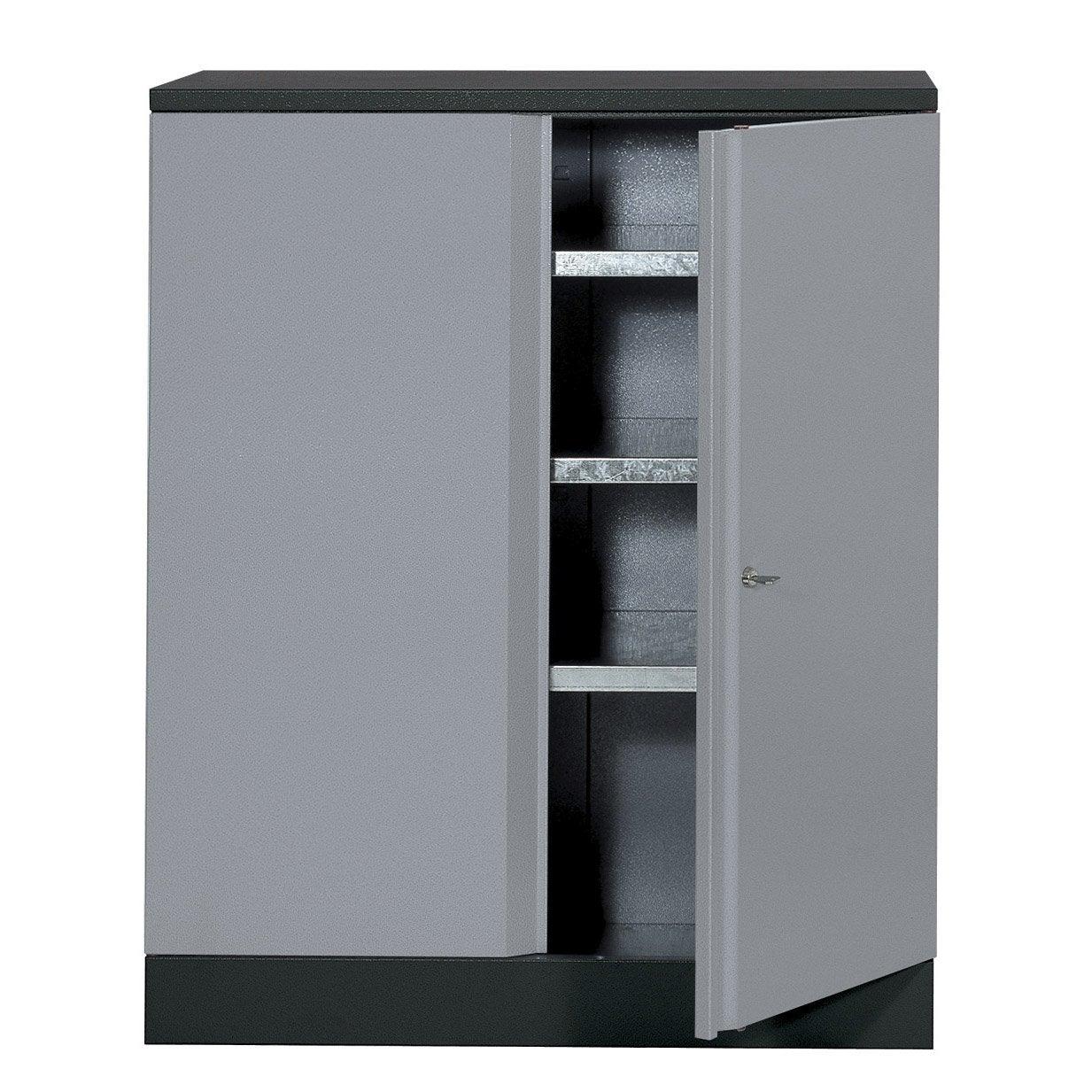 armoire de rangement en métal gris clair kupper 91 cm 1 porte