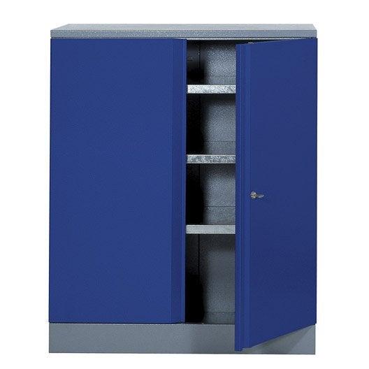 armoire de rangement en m tal bleu kupper 91 cm 1 porte. Black Bedroom Furniture Sets. Home Design Ideas
