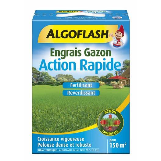 Engrais gazon algoflash 3 kg 150 m leroy merlin for Engrais 3 fois 15