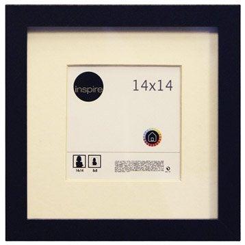 Cadre bois INSPIRE Lario, 14 x 14 cm, noir noir n°0