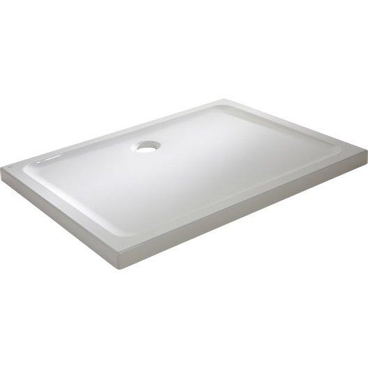 Receveur de douche rectangulaire x cm gr s blanc idealsmart leroy merlin for Pose douche italienne sans receveur