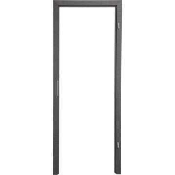 Bâti ajustable pour porte londres 73 cm, poussant droit décor chêne grisé