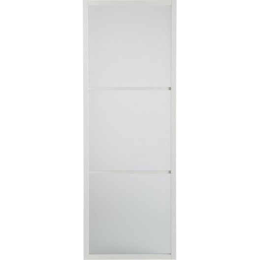 Porte coulissante aluminium blanc blanc n 0 aspen artens x cm l - Porte coulissante en verre 73 cm ...
