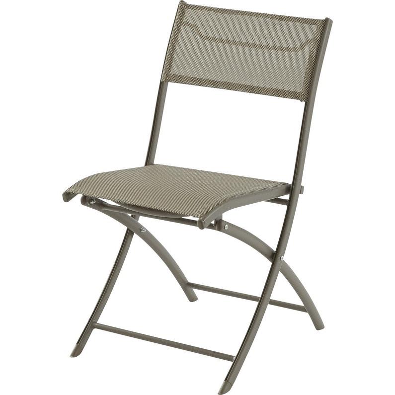 Chaise de jardin en aluminium cappuccino