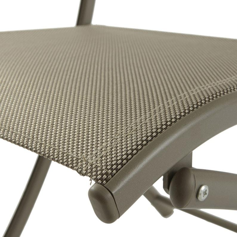 Chaise de jardin en aluminium cappuccino | Leroy Merlin