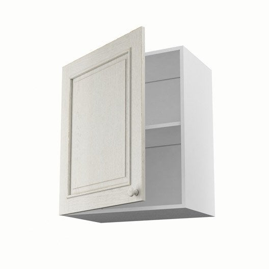 Meuble de cuisine haut blanc 1 porte cosy x x p for Meuble 70 cm de haut