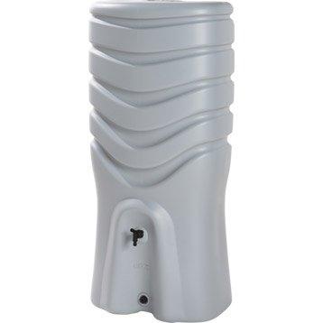 Récupérateur d'eau et collecteur aérien EDA rectangulaire gris , 350 l