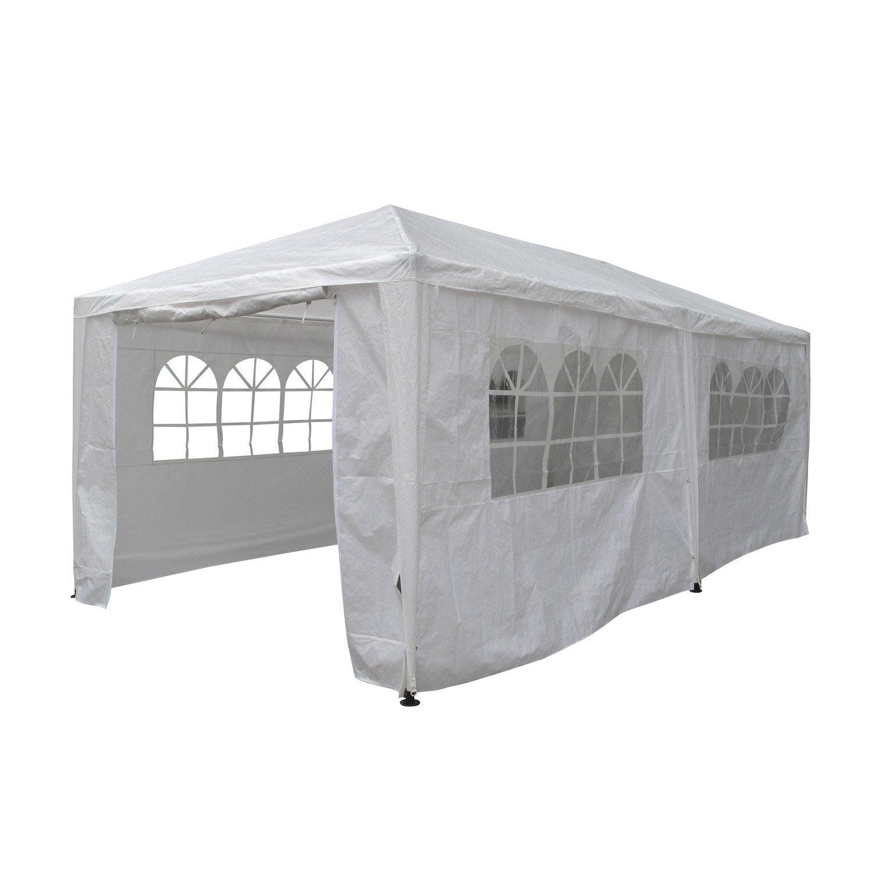 Tente autoportante louisiane acier blanche 18 m leroy for Leroy merlin carpas jardin