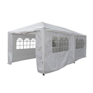 Tente autoportante acier blanche 18 m²