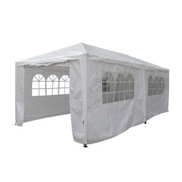 Tente autoportante louisiane, acier blanche, 18 m²