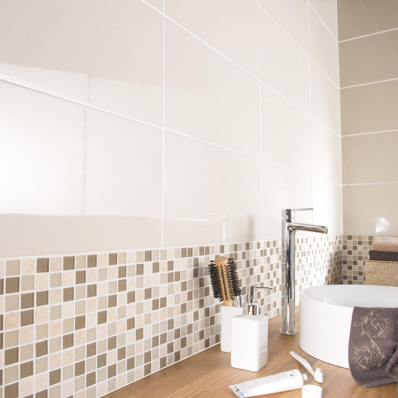 fa ence mur ivoire tonic x cm leroy merlin. Black Bedroom Furniture Sets. Home Design Ideas