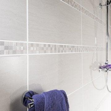carrelage mural et faence pour salle de bains et crdence de cuisine leroy merlin - Salle De Bain Faience Blanche